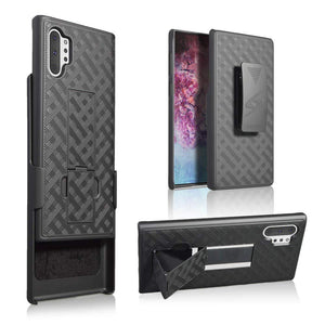 AMZER Shellster Hard Case With Kickstand for Samsung Galaxy Note 10+ - Black - fommystore