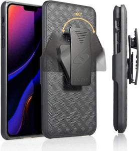 AMZER Shellster Hard Case With Kickstand for Apple iPhone 11 Pro - Black - fommystore