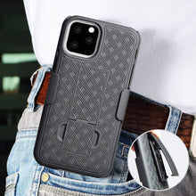 Load image into Gallery viewer, AMZER Shellster Hard Case With Kickstand for Apple iPhone 11 Pro - Black - fommystore