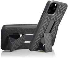 Load image into Gallery viewer, AMZER Shellster Hard Case With Kickstand for Apple iPhone 11 Pro Max - Black - fommystore