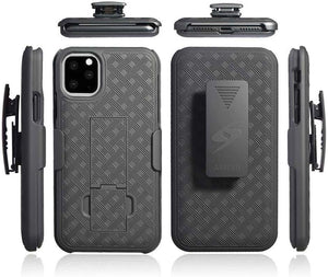 AMZER Shellster Hard Case With Kickstand for Apple iPhone 11 Pro Max - Black - fommystore
