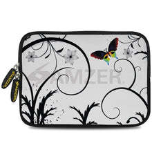 Load image into Gallery viewer, AMZER 7.75 Inch Neoprene Zipper Sleeve Pouch Tablet Bag - Snow Butterfly