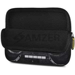 AMZER 10.5 Inch Neoprene Zipper Sleeve Pouch Tablet Bag - Black Stereo