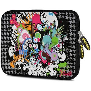 AMZER 10.5 Inch Neoprene Zipper Sleeve Pouch Tablet Bag - Funky Mix