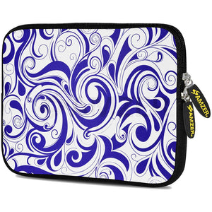 AMZER 10.5 Inch Neoprene Zipper Sleeve Pouch Tablet Bag - Blue Elegance