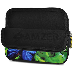AMZER 7.75 Inch Neoprene Zipper Sleeve Pouch Tablet Bag - Pandora Green