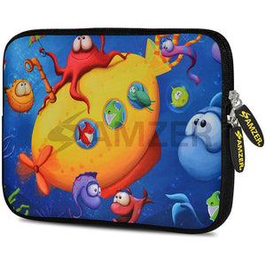 AMZER 10.5 Inch Neoprene Zipper Sleeve Pouch Tablet Bag - Sea World