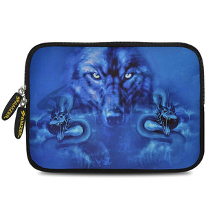 AMZER 10.5 Inch Neoprene Zipper Sleeve Pouch Tablet Bag - Blue Trix