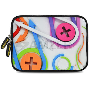AMZER 7.75 Inch Neoprene Zipper Sleeve Pouch Tablet Bag - Held Together