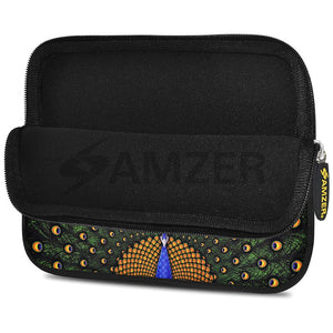 AMZER 10.5 Inch Neoprene Zipper Sleeve Pouch Tablet Bag - Dancing Peacock