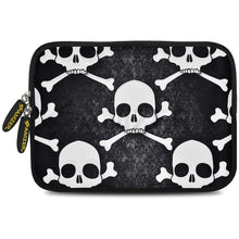Load image into Gallery viewer, AMZER 10.5 Inch Neoprene Zipper Sleeve Pouch Tablet Bag - Skull Cross Bones