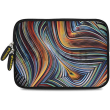 Load image into Gallery viewer, AMZER 7.75 Inch Neoprene Zipper Sleeve Pouch Tablet Bag - Vortex Lines