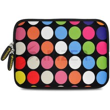 Load image into Gallery viewer, AMZER 7.75 Inch Neoprene Zipper Sleeve Pouch Tablet Bag - Dots Galore