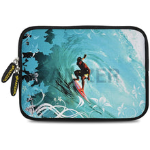 Load image into Gallery viewer, AMZER 7.75 Inch Neoprene Zipper Sleeve Pouch Tablet Bag - Wave Surfer