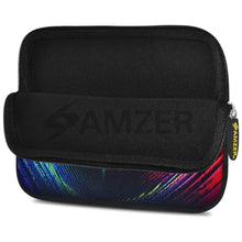 Load image into Gallery viewer, AMZER 10.5 Inch Neoprene Zipper Sleeve Pouch Tablet Bag - Peacock Close-up