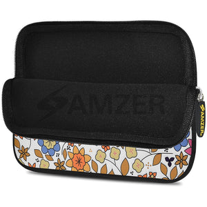 AMZER 7.75 Inch Neoprene Zipper Sleeve Pouch Tablet Bag - Trendy Mix