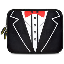 Load image into Gallery viewer, AMZER 10.5 Inch Neoprene Zipper Sleeve Pouch Tablet Bag - Tux Red Bow