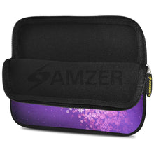 Load image into Gallery viewer, AMZER 7.75 Inch Neoprene Zipper Sleeve Pouch Tablet Bag - Purple Blue Butterfly