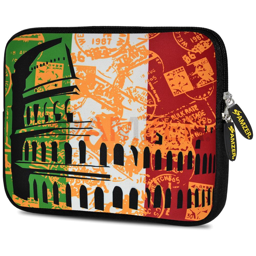 AMZER 10.5 Inch Neoprene Zipper Sleeve Pouch Tablet Bag - Colosseum