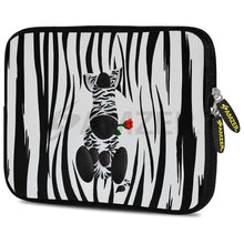 Load image into Gallery viewer, AMZER 10.5 Inch Neoprene Zipper Sleeve Pouch Tablet Bag - Cute Zebra Rose