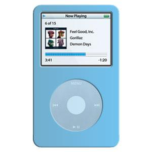 AMZER Skin - Blue for iPod Video 60GB