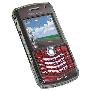 AMZER Snap On Transparent Case - Smoke Black for BlackBerry 8110