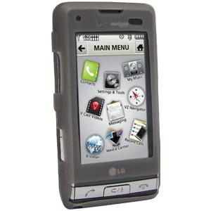 AMZER Silicone Skin Jelly Case for LG Dare VX9700 - Grey