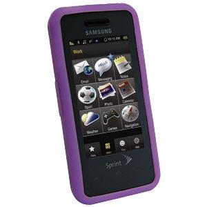 AMZER Silicone Skin Jelly Case for Samsung Instinct SPH-M800 - Purple Lilac