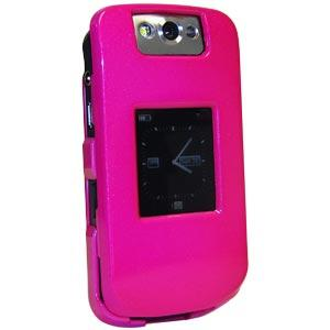 AMZER Polished Hot Pink Snap On Crystal Hard Case for BlackBerry Pearl 8220