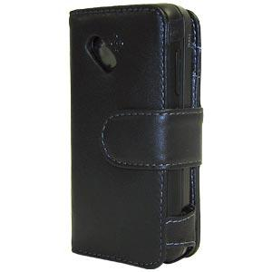 AMZER Leather Book Case - Black for HTC Dream