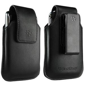 RIM (OEM) BlackBerry® Leather Swivel Holster - Black - GB