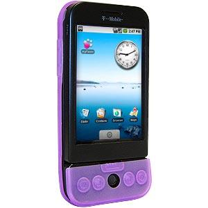 AMZER Silicone Skin Jelly Case for HTC Dream - Purple Lilac