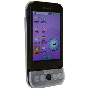 AMZER Shockproof Rugged Silicone Skin Jelly Case for HTC Dream - Clear