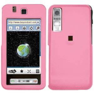 AMZER Rubberized Baby Pink Snap On Crystal Hard Case for Samsung Behold T919