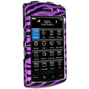 AMZER Zebra Print Purple Snap On Crystal Hard Case for BlackBerry Storm 9530