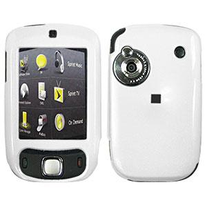 AMZER Polished White Snap On Crystal Hard Case for HTC Touch