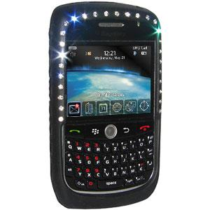 AMZER Diamond Silicone Skin Jelly Case for BlackBerry Curve 8900 - Black