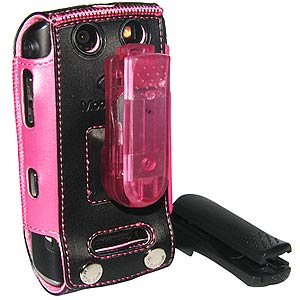 Flip Tech Case Pink Tie for BlackBerry Storm 2 9550