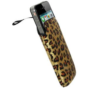 Amzer Leopard Print Sleeve with Ribbon Pull-Out