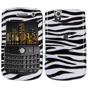 AMZER Zebra Print Snap On Crystal Hard Case for BlackBerry Bold 9650