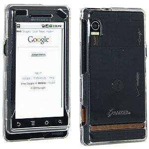 AMZER Clear Snap On Crystal Hard Case for Motorola Droid A855