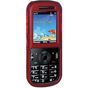 Rubberized Red Protector Case for Motorola VE440