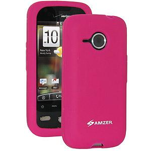 AMZER® Silicone Skin Jelly Case - Hot Pink for HTC DROID Eris