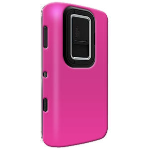 Amzer Simple Click On Case with Screen Protector - Rubberized Hot Pink for Nokia N900