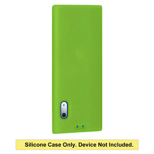AMZER Shockproof Rugged Silicone Skin Jelly Case for iPod Nano 5th Gen - Green