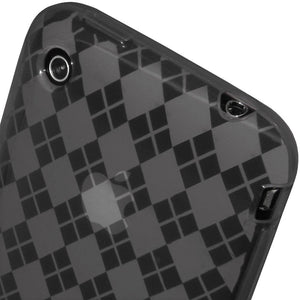 AMZER Luxe Argyle Skin Case - Smoke Grey for iPhone 3G