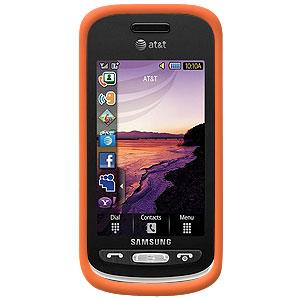 AMZER® Silicone Skin Jelly Case - Orange for Samsung Solstice A887