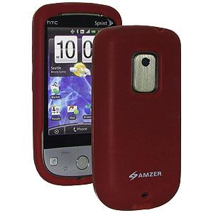 AMZER® Silicone Skin Jelly Case - Maroon Red