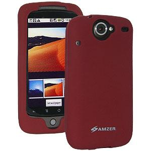 AMZER Silicone Skin Jelly Case for Google Nexus One PB99100 - Maroon Red