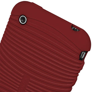 AMZER Wave Silicone Skin Jelly Case for iPhone 3G - Maroon